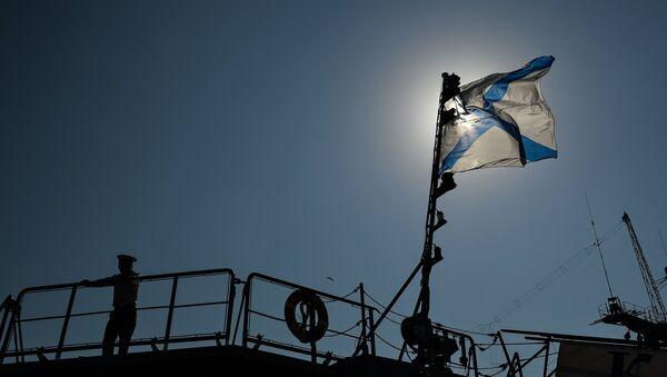 Андреевский флаг на корабле ВМФ РФ Ладный - Sputnik Латвия