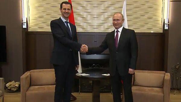 Путин и Асад провели переговоры в Сочи - Sputnik Латвия