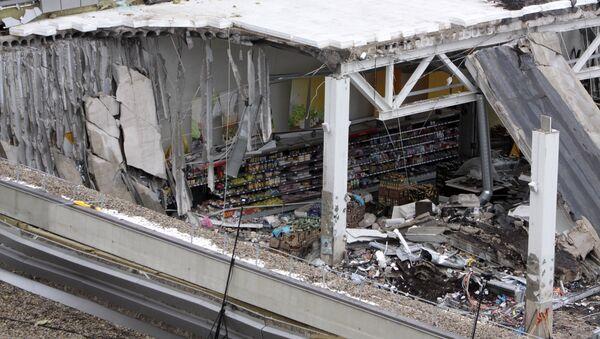 Обрушение крыши торгового центра в Риге - Sputnik Латвия