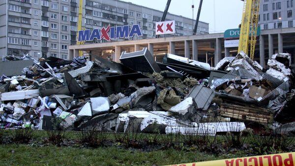 Tirdzniecības centra jumta sabrukšana Rīgā - Sputnik Latvija
