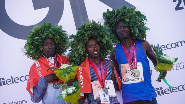 Rīgas maratona uzvarētāji - Sputnik Latvija