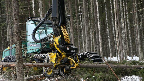 Лесозаготовительная машина  - Sputnik Latvija