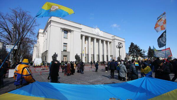 Участники акции у здания Верховной Рады в Киеве. 22 марта 2018 г. - Sputnik Латвия