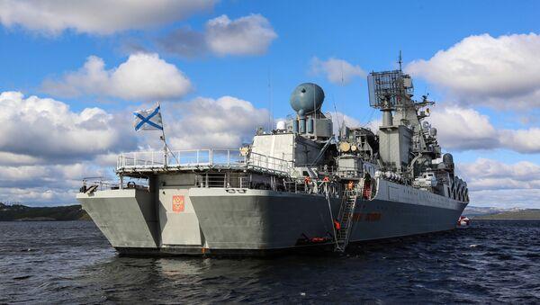 Ракетный крейсер Маршал Устинов - Sputnik Латвия