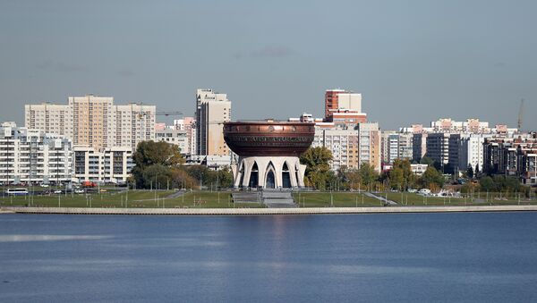 Вид на центр семьи Казан на набережной реки Казанки - Sputnik Латвия