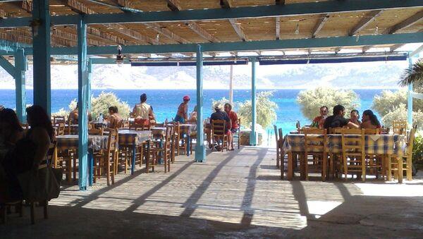 Кафе в Греции - Sputnik Латвия