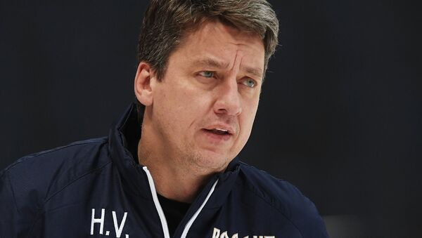 Бывший старший тренер сборной России Харийс Витолиньш, архивное фото - Sputnik Латвия