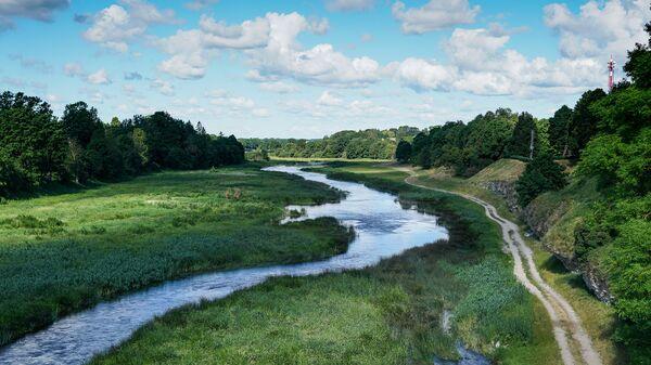 Река Мемеле в городе Бауска - Sputnik Latvija