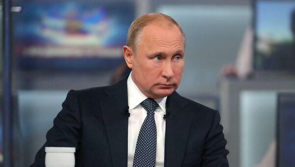 Tiešā līnija ar Vladimiru Putinu 2018 - Sputnik Latvija