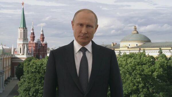 Обращение Путина к участникам и гостям ЧМ-2018 - Sputnik Latvija