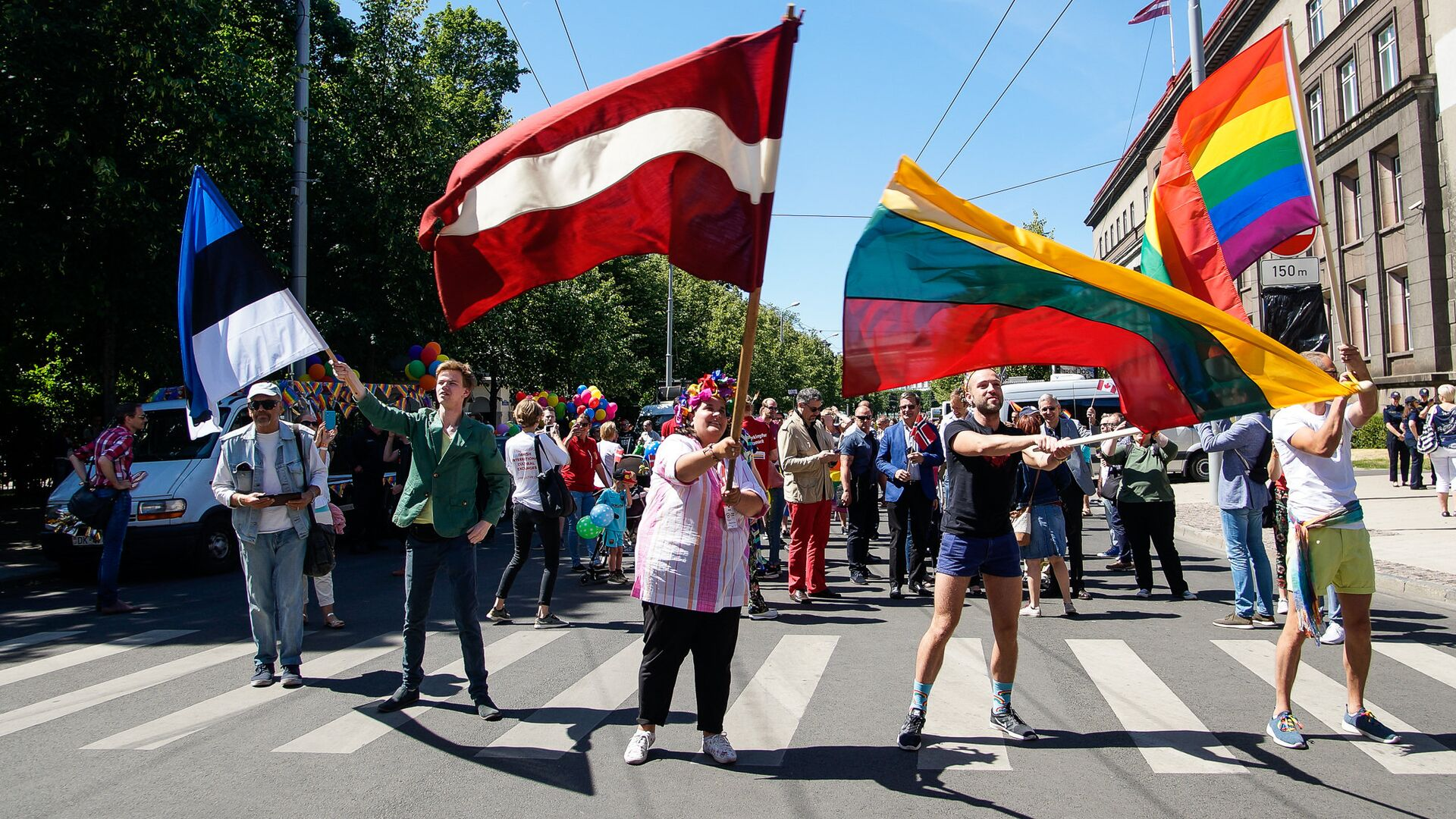 Шествие сексуальных меньшинств Baltijas Praids 2018 - Sputnik Латвия, 1920, 06.06.2021