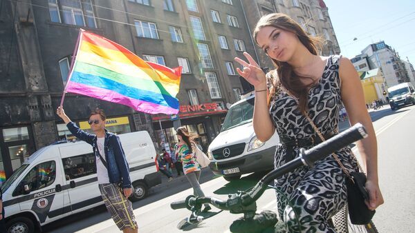 Шествие сексуальных меньшинств Baltijas Praids 2018 - Sputnik Латвия