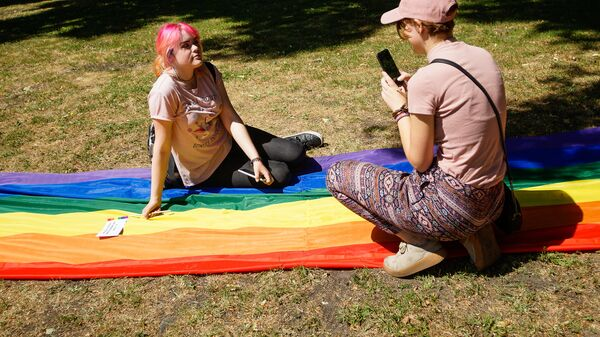 Шествие сексуальных меньшинств Baltijas Praids 2018 - Sputnik Latvija