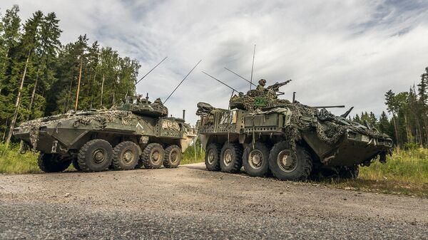 Международные военные учения Saber Strike в Латвии - Sputnik Latvija
