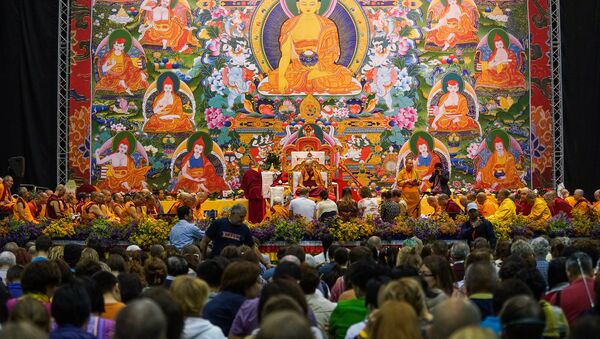 Учение Далай-ламы в Риге - Sputnik Латвия