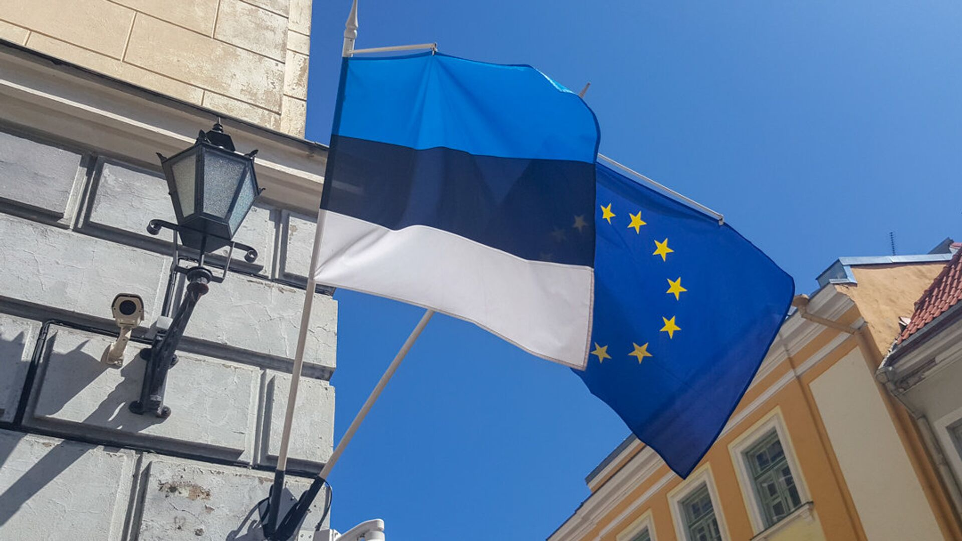 Igaunijas un ES karogs - Sputnik Latvija, 1920, 14.10.2021