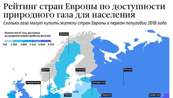 Стоимость газа для населения – рейтинг стран Европы 2018 - Sputnik Латвия