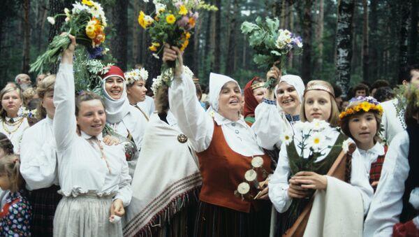 Латвийская ССР. Республиканский праздник песни и танца, 1986 год - Sputnik Латвия