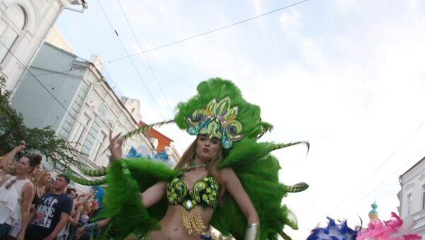 Праздничный карнавал прошел в Самаре - Sputnik Латвия