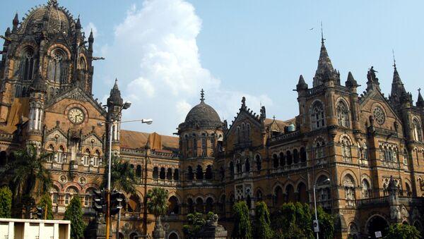 Вокзал Чхатрапати-Шиваджи в Мумбаи, Индия - Sputnik Латвия
