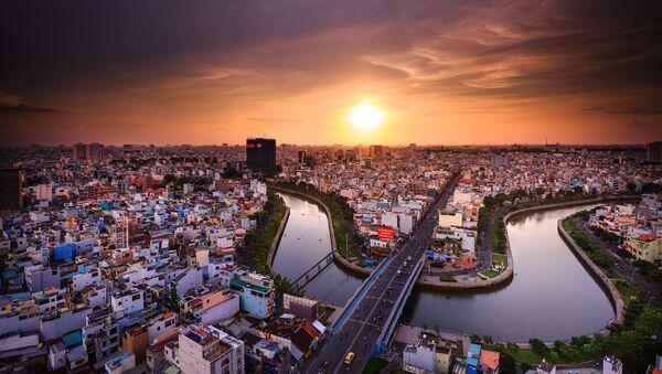 Вид на вьетнамский города Хошимин - Sputnik Латвия