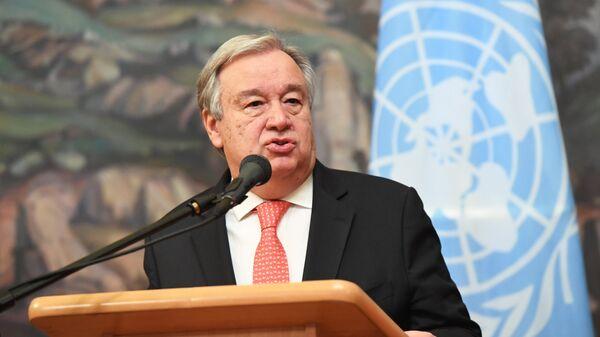 ANO ģenerālsekretārs Antoniu Guterrešs - Sputnik Latvija