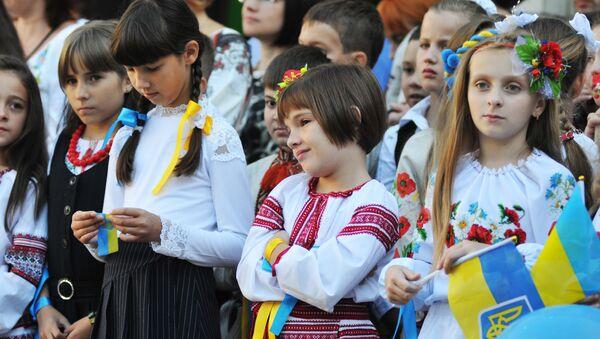 Ukrainas skolnieki - Sputnik Latvija