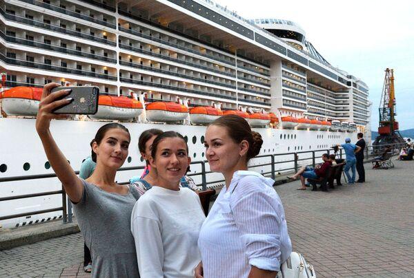 MSC Splendida – viens no lielākajiem kruīza kuģiem Eiropā. - Sputnik Latvija