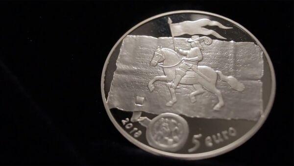 Коллекционная монета Банка Латвии, посвященная куршским королям - Sputnik Латвия