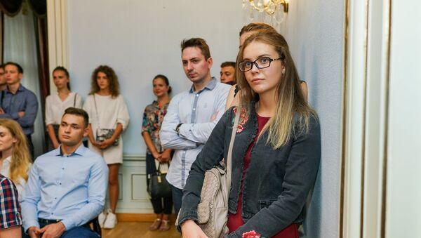 Встреча с абитуриентами в посольстве России - Sputnik Latvija