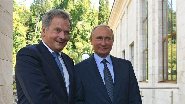 Встреча президента РФ В. Путина с президентом Финляндии С. Ниинистё - Sputnik Latvija