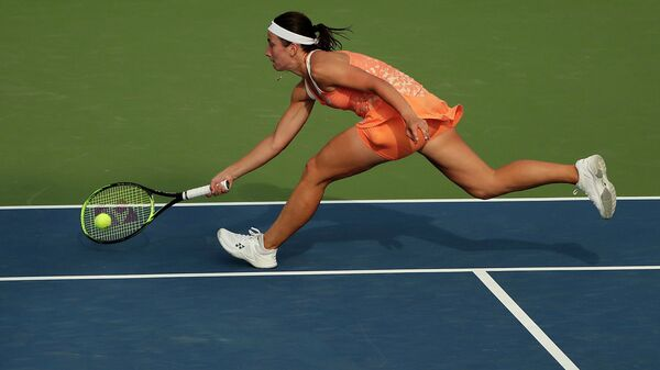 Анастасия Севастова во время теннисного турнира U.S. Open - Sputnik Латвия