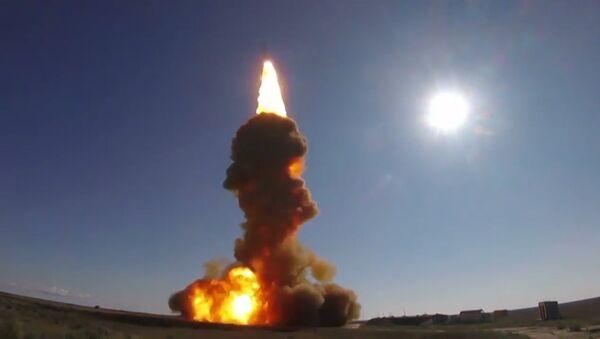 Кадры испытания новой российской противоракеты - Sputnik Латвия