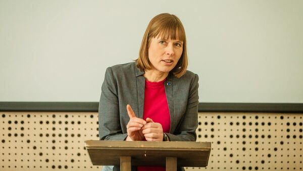 Igaunijas prezidentes Kersti Kaljulaidas - Sputnik Latvija