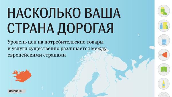 НАСКОЛЬКО ВАША СТРАНА ДОРОГАЯ - Sputnik Латвия