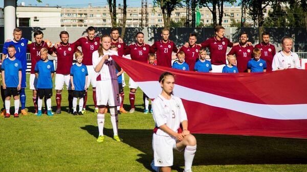 Матч сборной Латвии против команды Эстонии на Кубок Балтии по футболу, 2018 - Sputnik Латвия