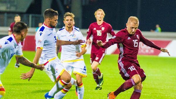 Матч сборной Латвии против команды Андорры, 2018 - Sputnik Латвия