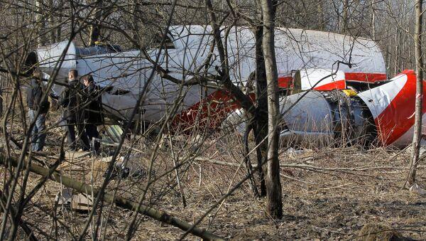 Место падения польского самолета Ту-154 под Смоленском - Sputnik Латвия