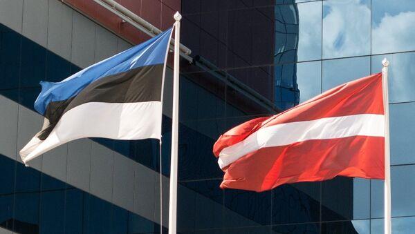 Флаги Эстонии и Латвии. - Sputnik Латвия