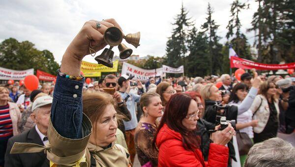 Марш в защиту русских школ Наш выбор. 15 сентября 2018 г. - Sputnik Latvija