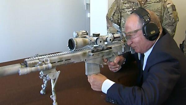 Путин пристрелял новую снайперскую винтовку - Sputnik Latvija