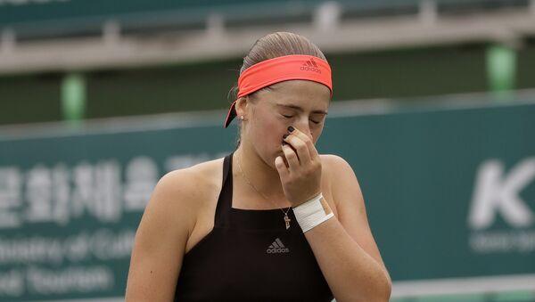Елена Остапенко проиграла во втором круге турнира в Сеуле - Sputnik Латвия