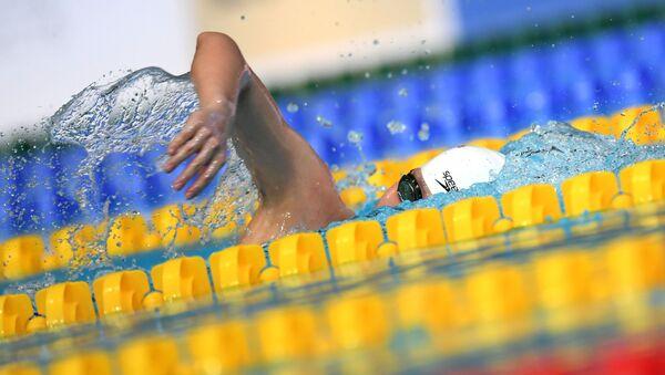 Соревнования по плаванию. Архивное фото - Sputnik Латвия