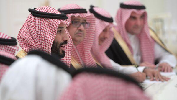 Встреча президента РФ Владимира Путина с заместителем наследного принца Саудовской Аравии Мухаммадом ибн Салманом Аль Саудом - Sputnik Latvija