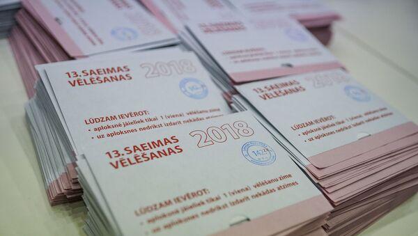 Подсчет голосов на выборах в 13-й Сейм - Sputnik Latvija