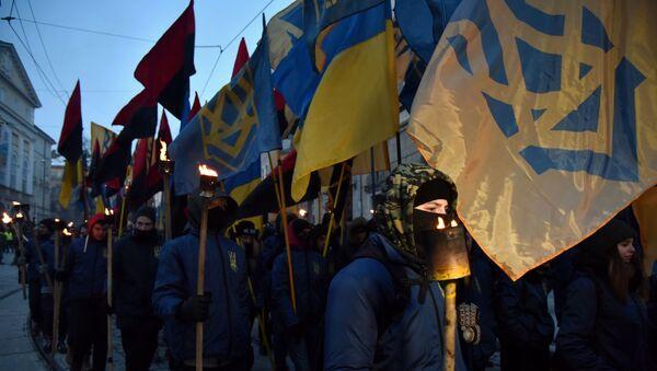 Марш националистов во Львове - Sputnik Латвия