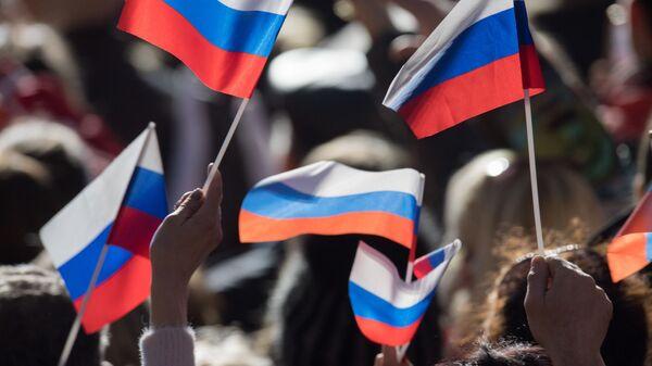 Российские флаги. Архивное фото - Sputnik Latvija