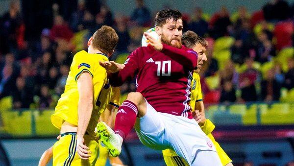 Матч Лиги наций УЕФА между сборными командами Латвии и Казахстана - Sputnik Латвия