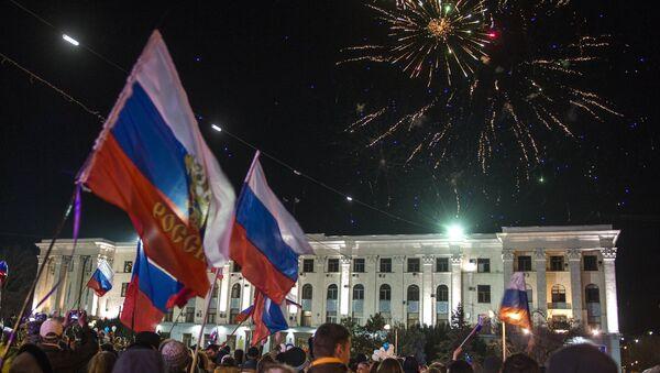 Празднование годовщины Крымской весны в Крыму - Sputnik Latvija
