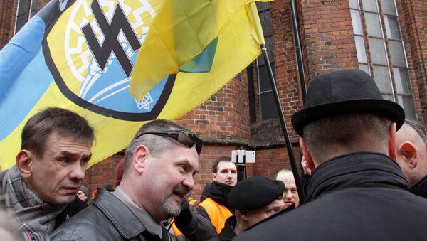 За радикалов с Украины пришлось краснеть даже латышским националистам - Sputnik Латвия